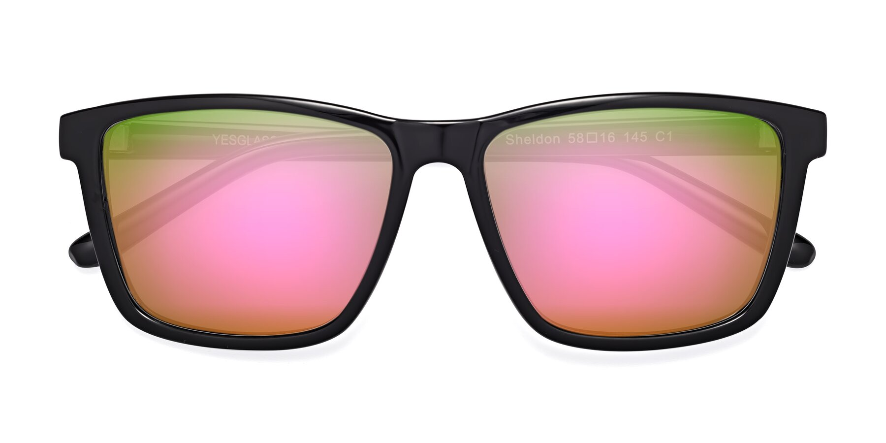 Folded Front of SSR724 in Tortoise with Pink Mirrored Lenses