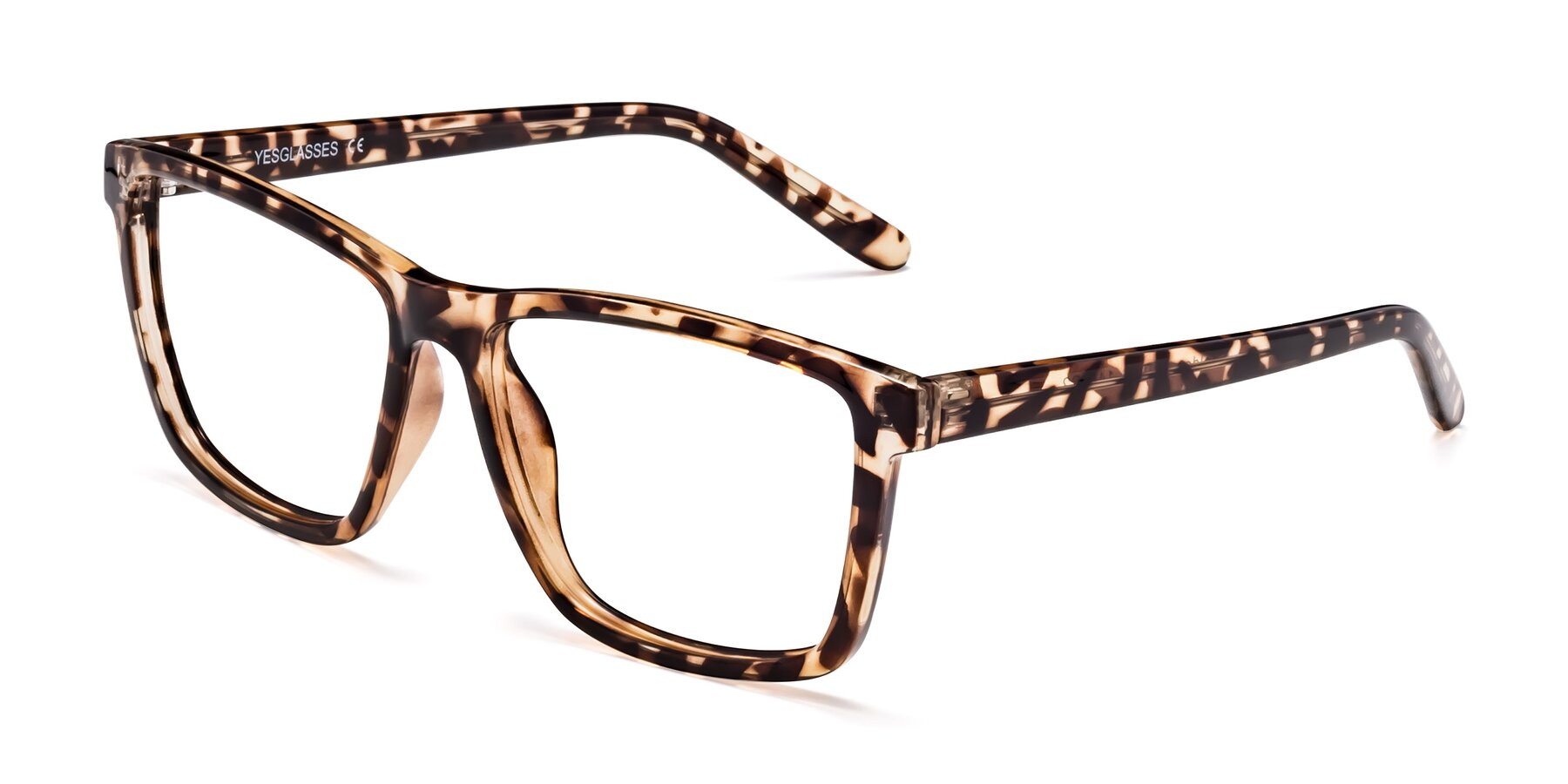 Angle of Sheldon in Tortoise with Clear Blue Light Blocking Lenses