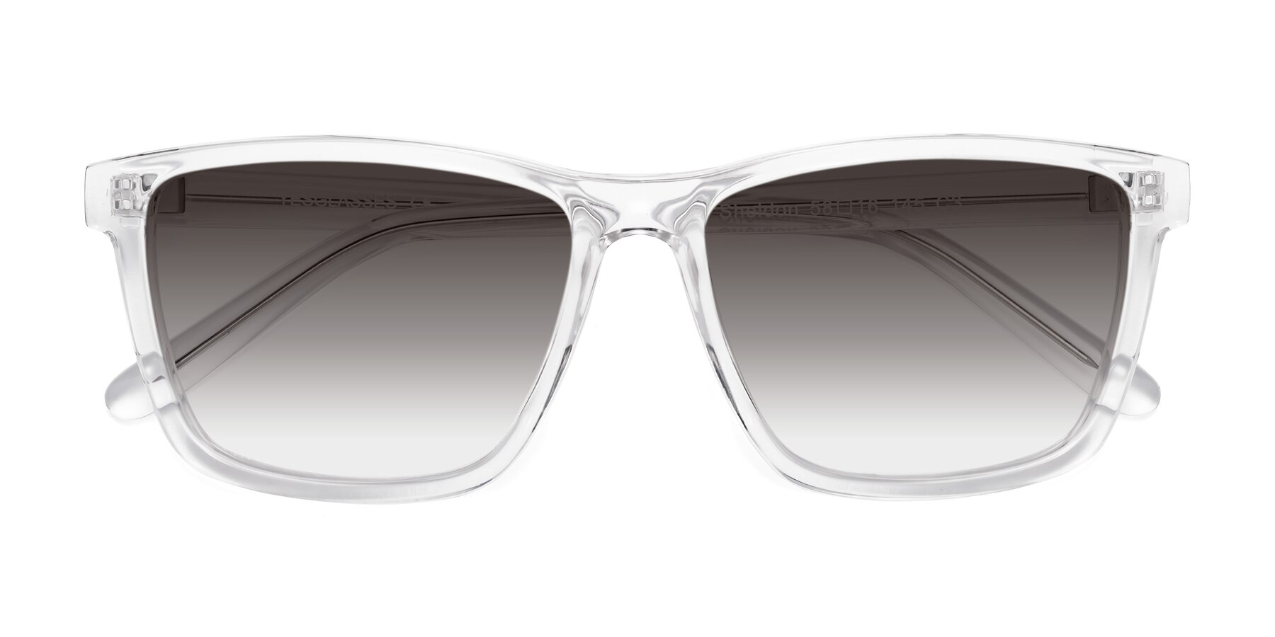 Folded Front of SSR724 in Clear with Gray Gradient Lenses