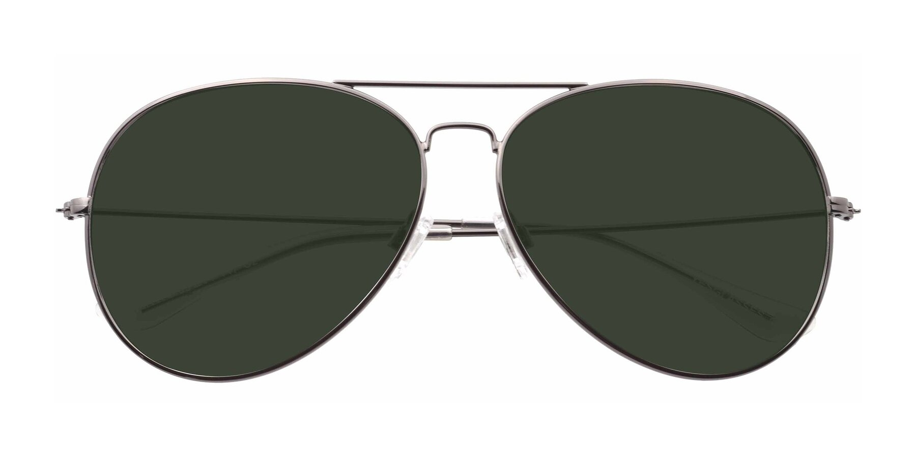 Folded Front of SSR179 in Gunmetal with Green Tinted Lenses