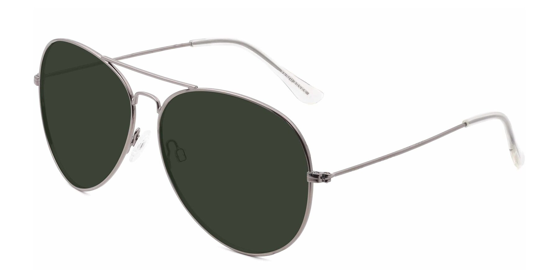 Angle of SSR179 in Gunmetal with Green Tinted Lenses