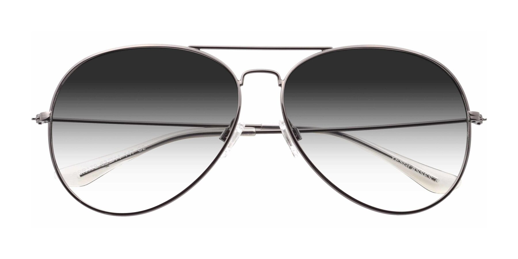 Folded Front of SSR179 in Gunmetal with Gray Gradient Lenses