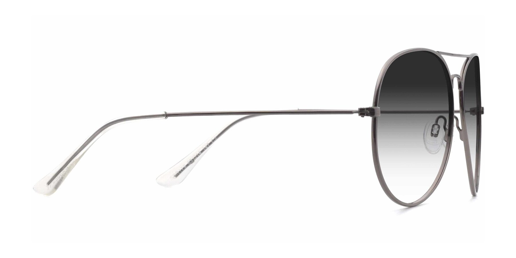 Side of SSR179 in Gunmetal with Gray Gradient Lenses