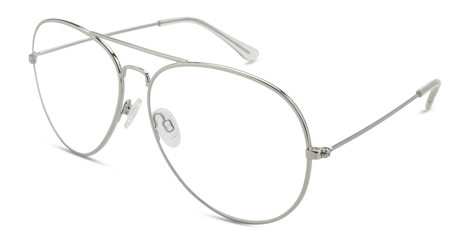 Angle of SSR179 in Silver with Clear Eyeglass Lenses