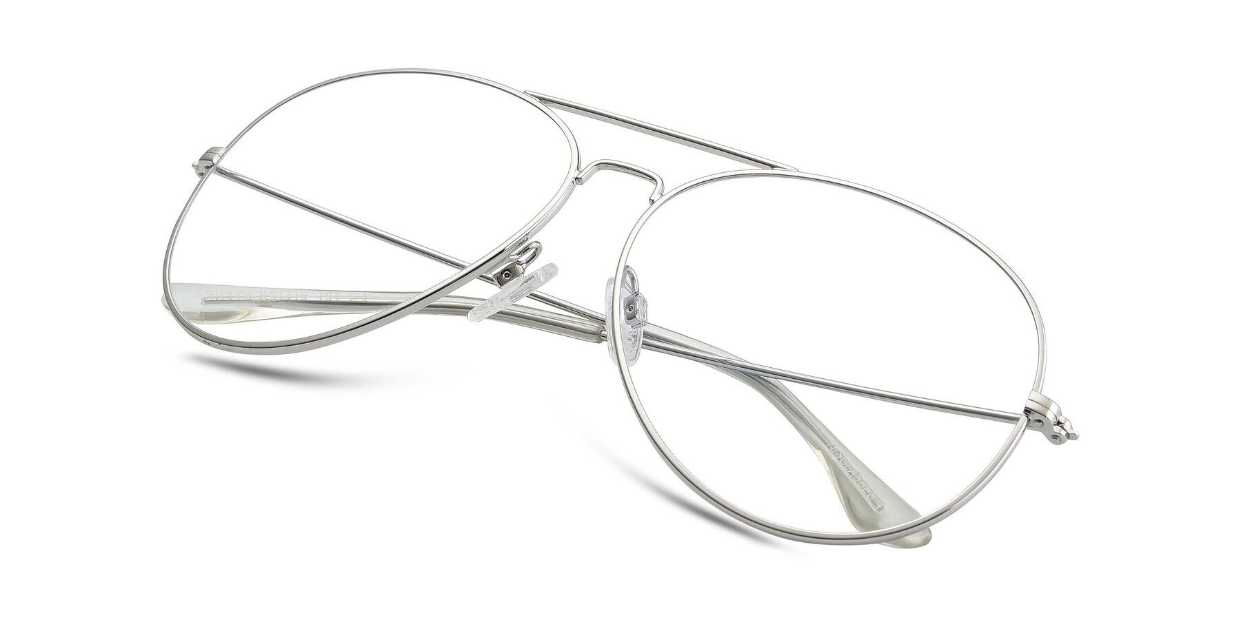 View of SSR179 in Silver with Clear Eyeglass Lenses