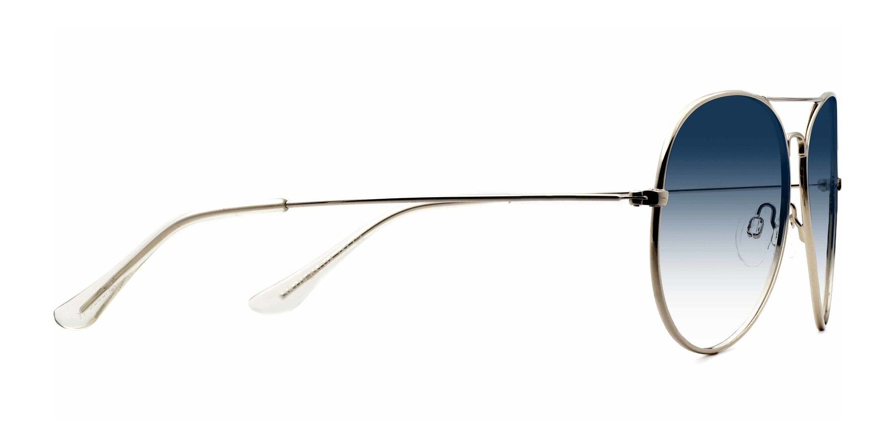 Side of SSR179 in Silver with Blue Gradient Lenses
