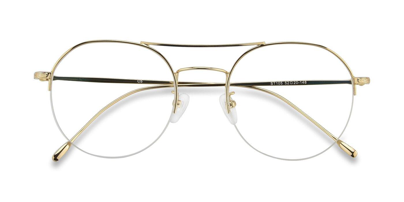 ST105 - Gold Blue Light Glasses