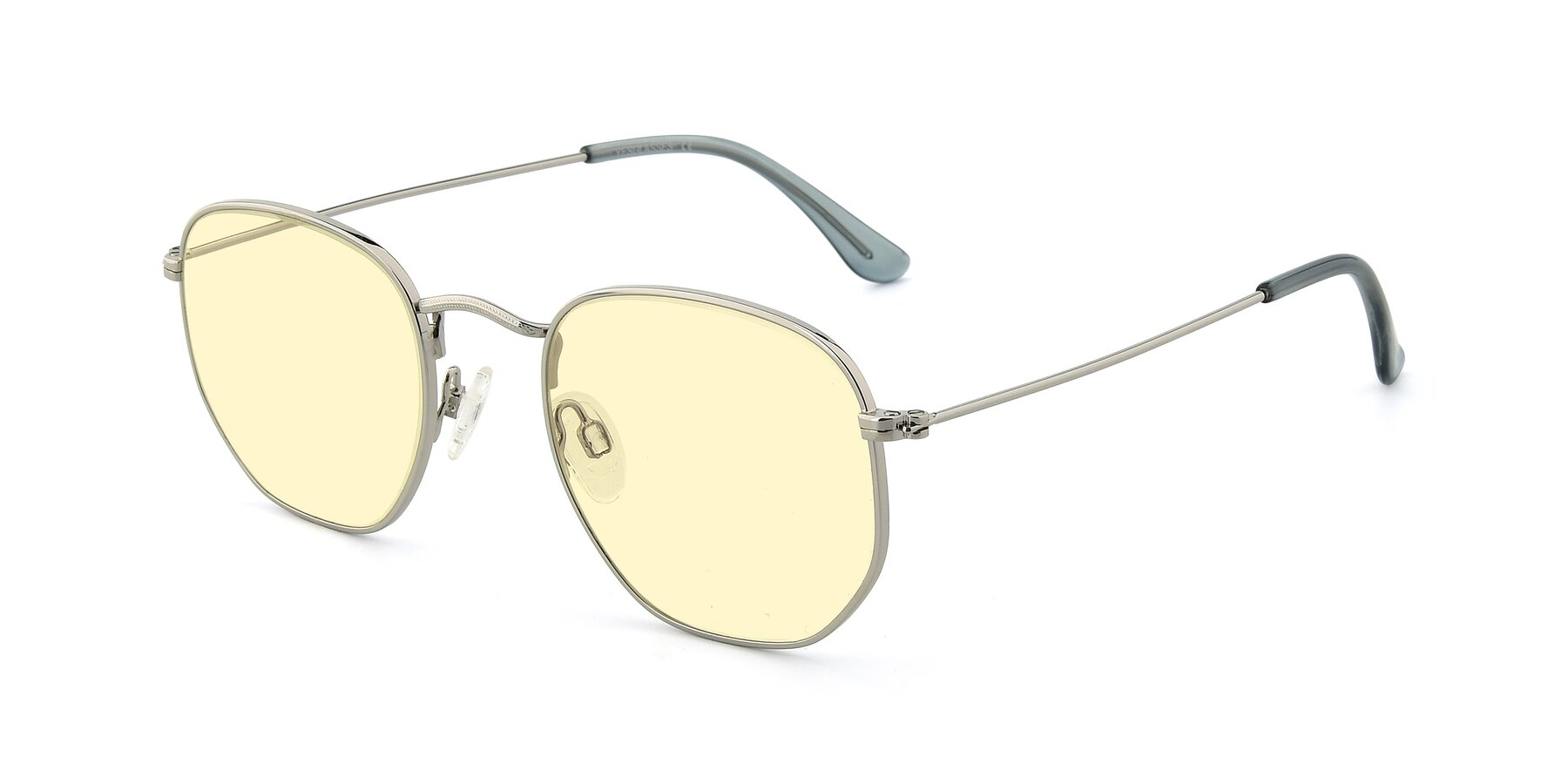 Angle of SSR1943 in Silver with Light Yellow Tinted Lenses