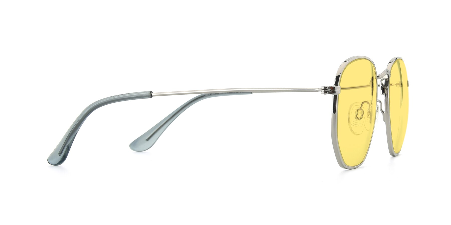 Side of SSR1943 in Silver with Medium Yellow Tinted Lenses
