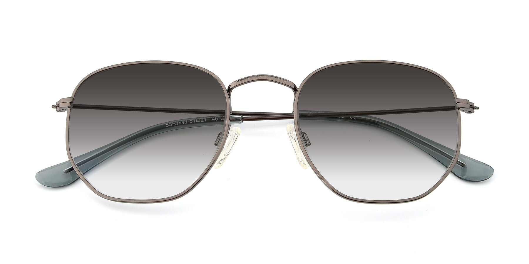 Folded Front of SSR1943 in Grey with Gray Gradient Lenses