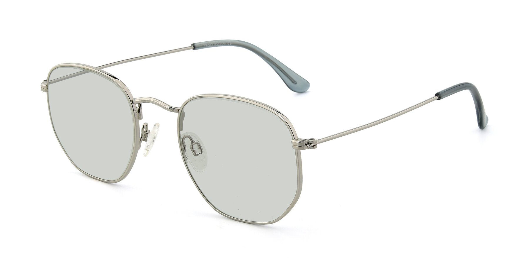 Angle of SSR1944 in Silver with Light Green Tinted Lenses