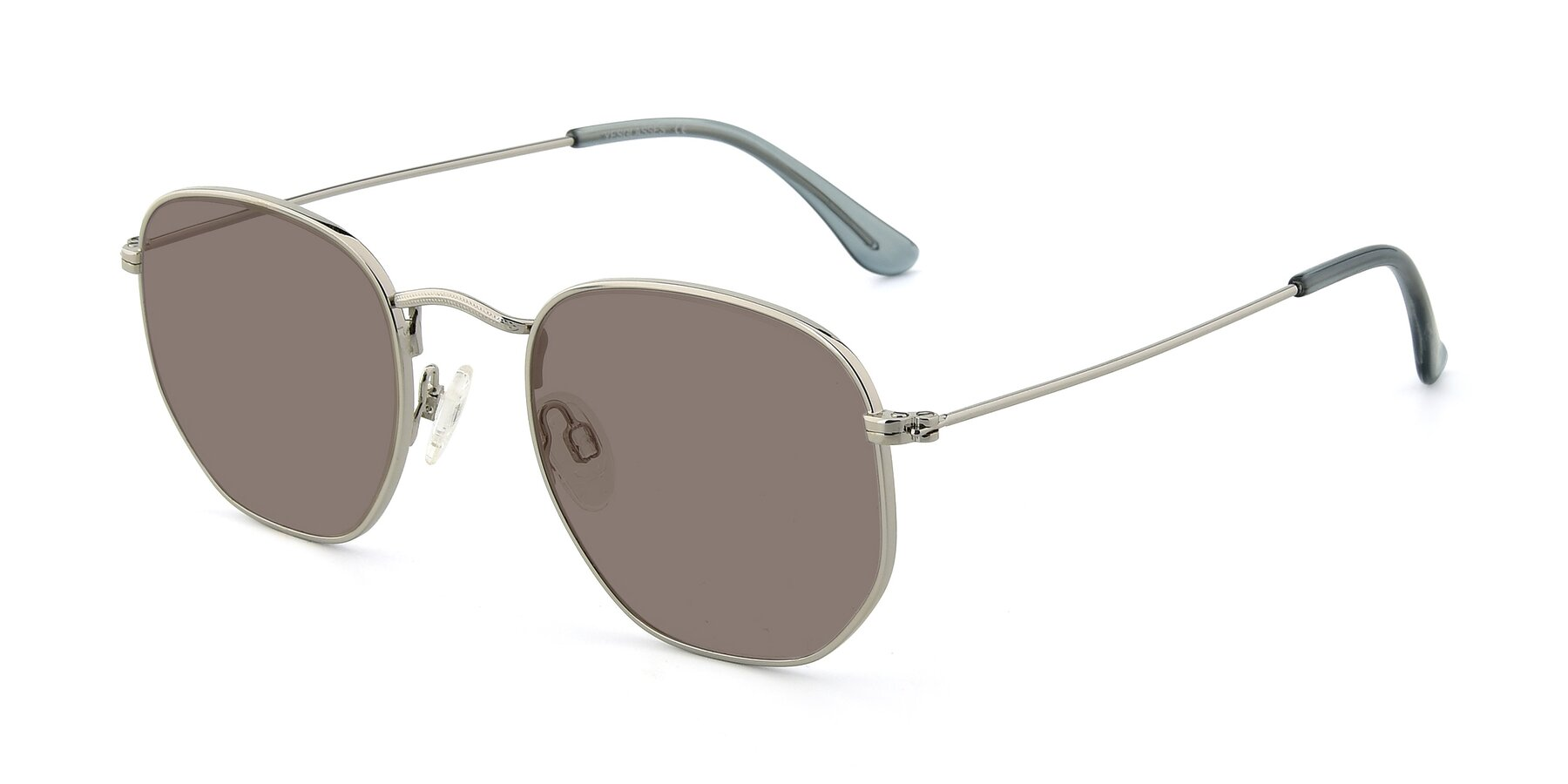 Angle of SSR1944 in Silver with Medium Brown Tinted Lenses