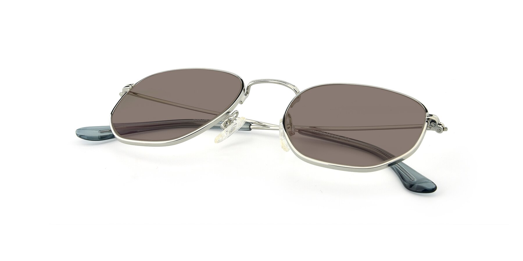 View of SSR1944 in Silver with Medium Brown Tinted Lenses