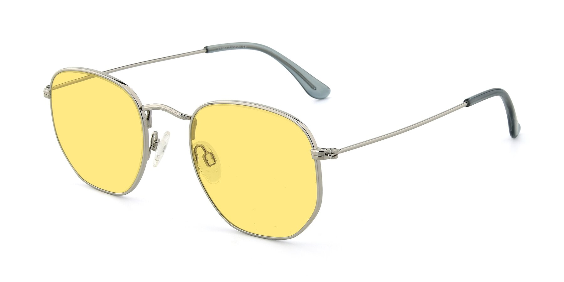 Angle of SSR1944 in Silver with Medium Yellow Tinted Lenses