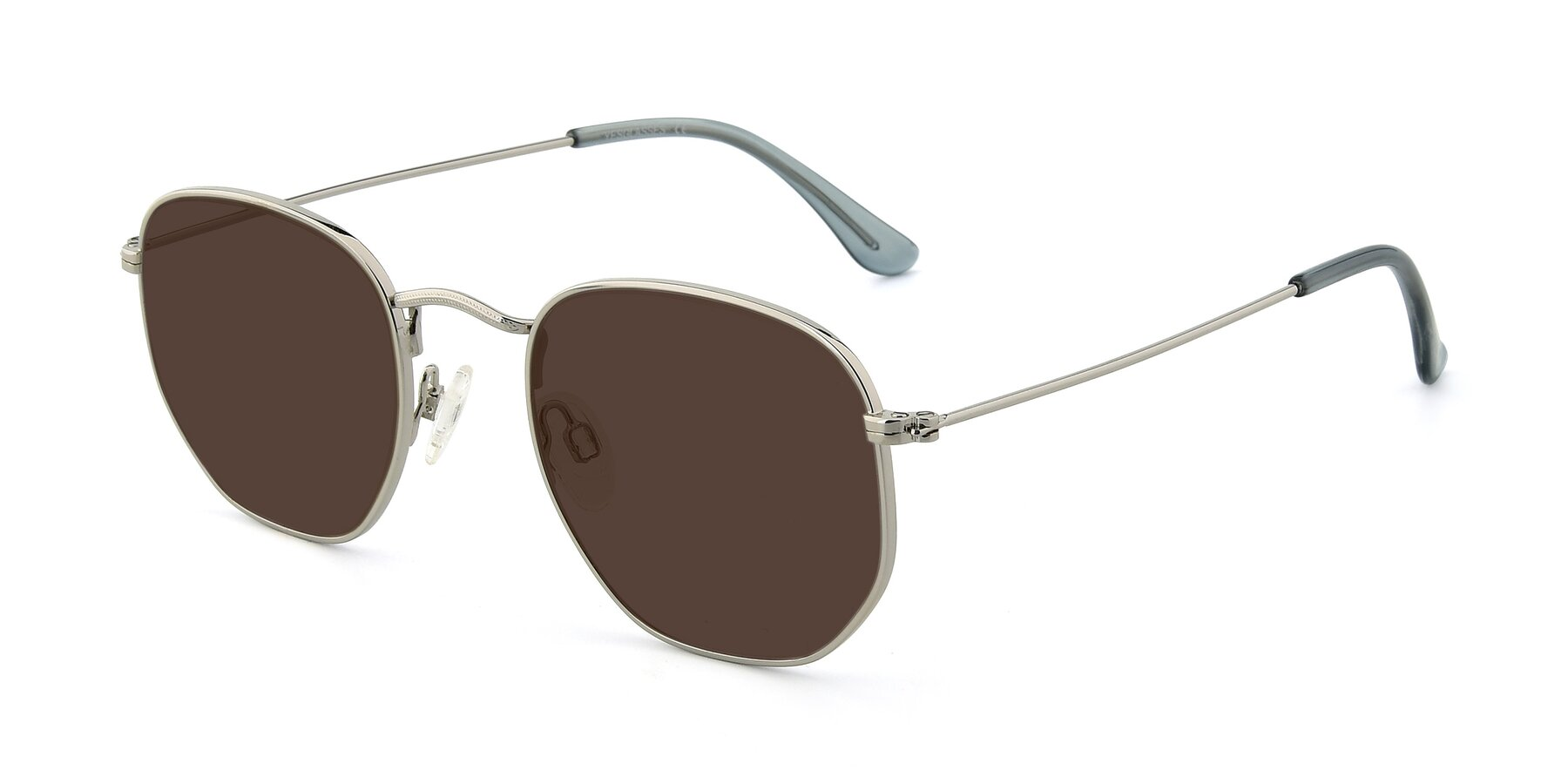 Angle of SSR1944 in Silver with Brown Tinted Lenses