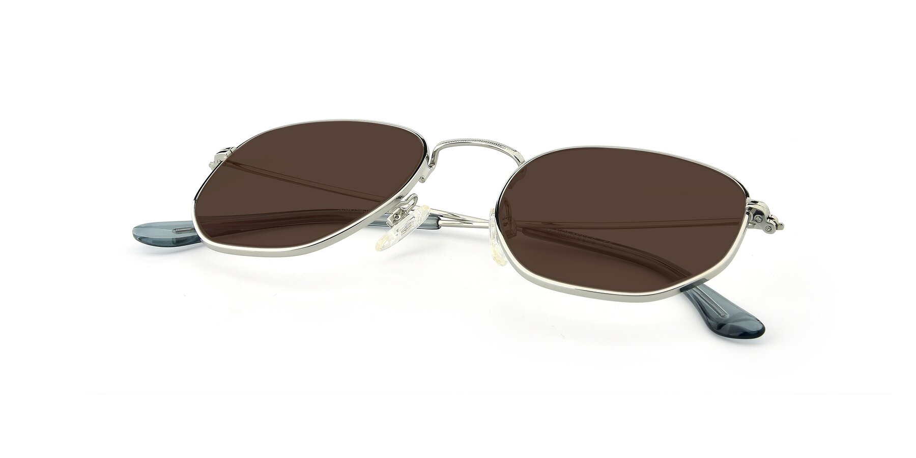 View of SSR1944 in Silver with Brown Tinted Lenses