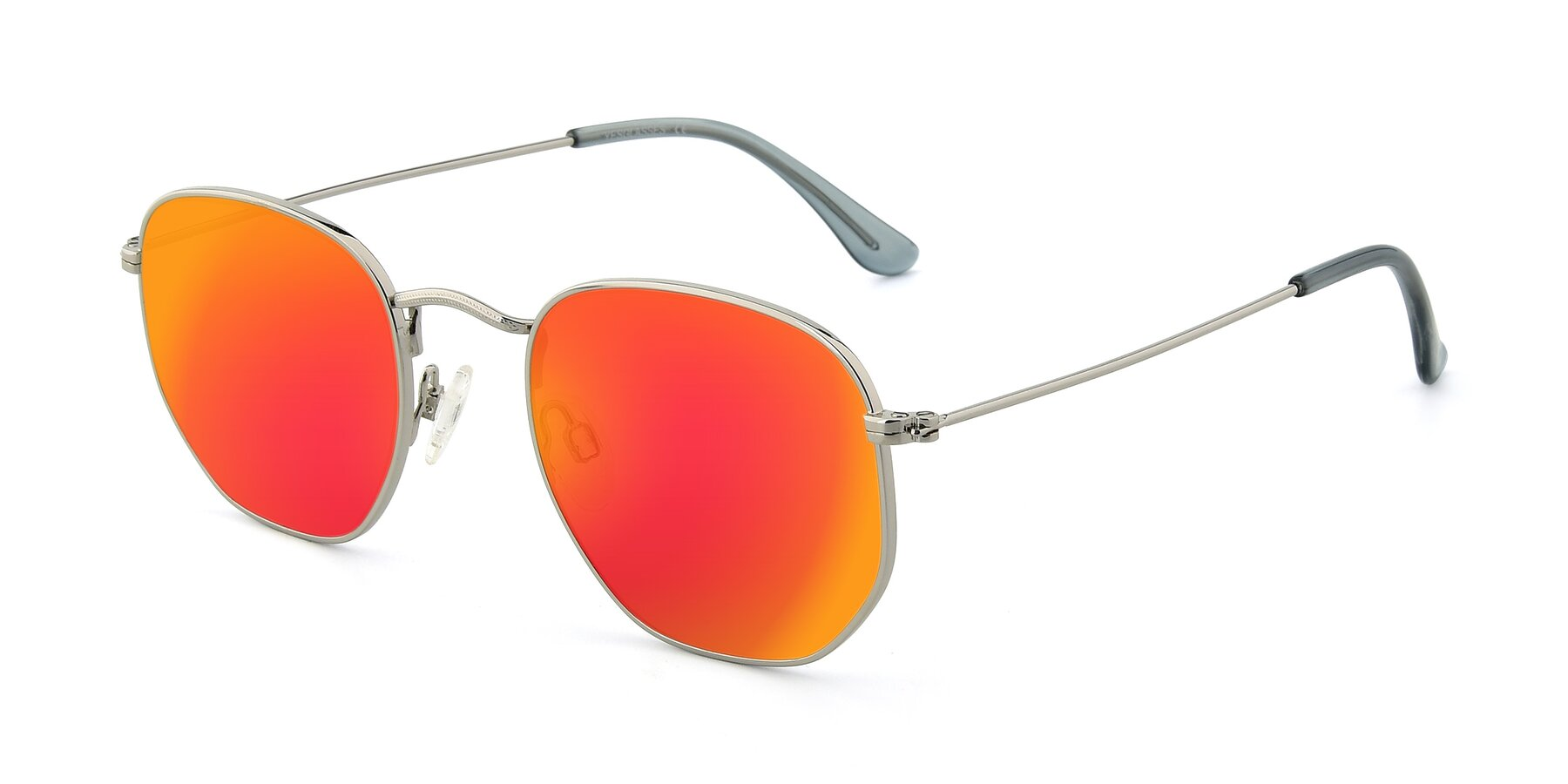 Angle of SSR1944 in Silver with Red Gold Mirrored Lenses