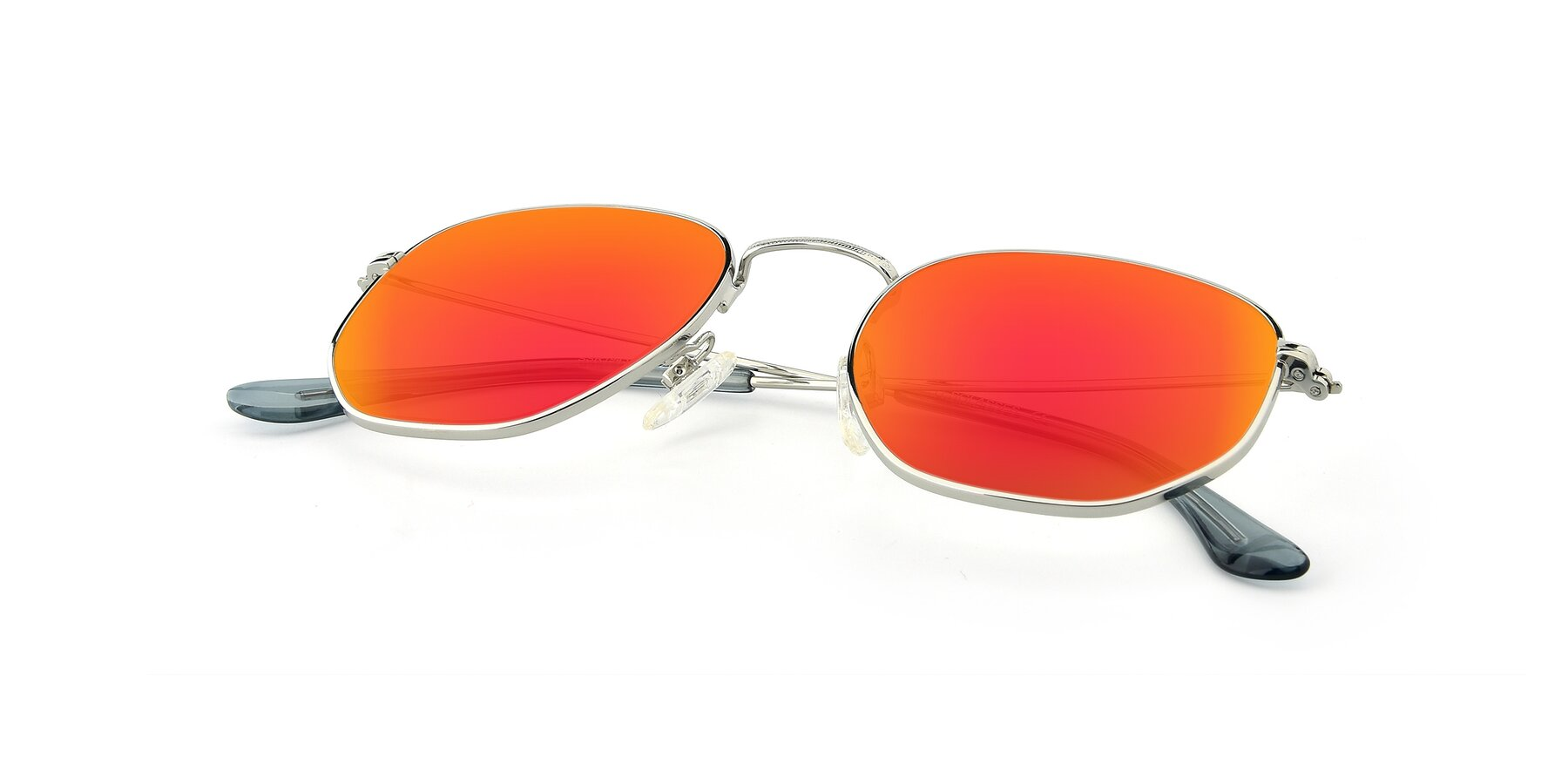 View of SSR1944 in Silver with Red Gold Mirrored Lenses