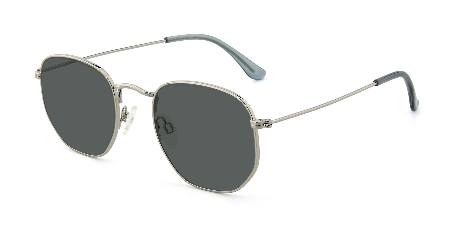 Angle of SSR1944 in Silver with Gray Polarized Lenses