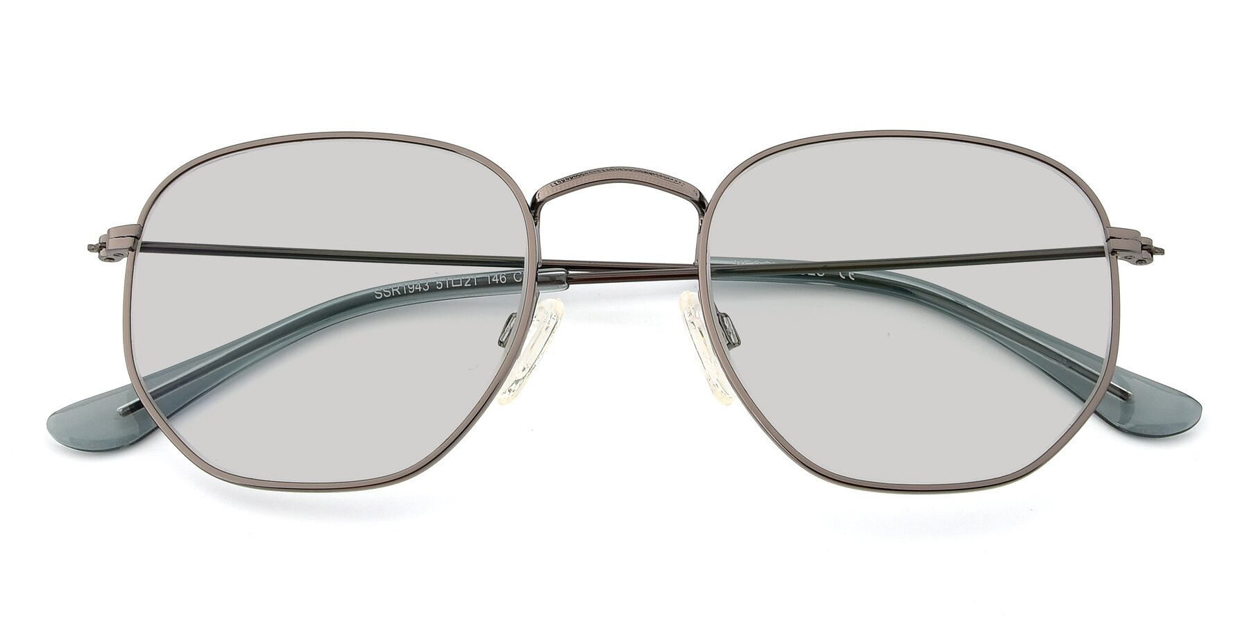 Folded Front of SSR1944 in Grey with Light Gray Tinted Lenses