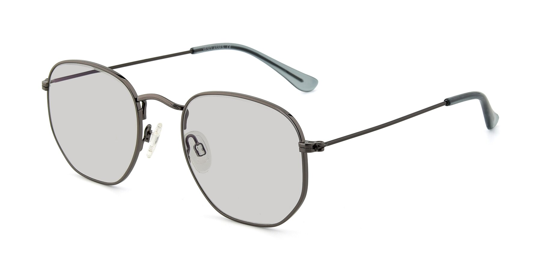 Angle of SSR1944 in Grey with Light Gray Tinted Lenses