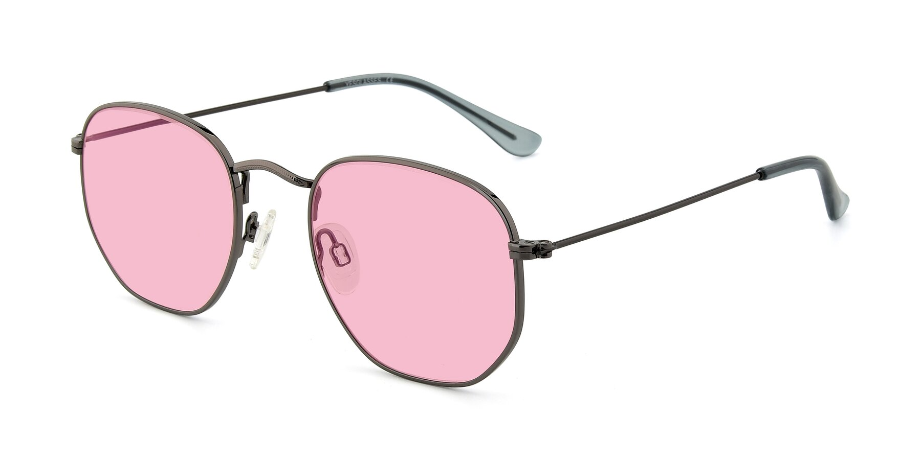 Angle of SSR1944 in Grey with Medium Pink Tinted Lenses