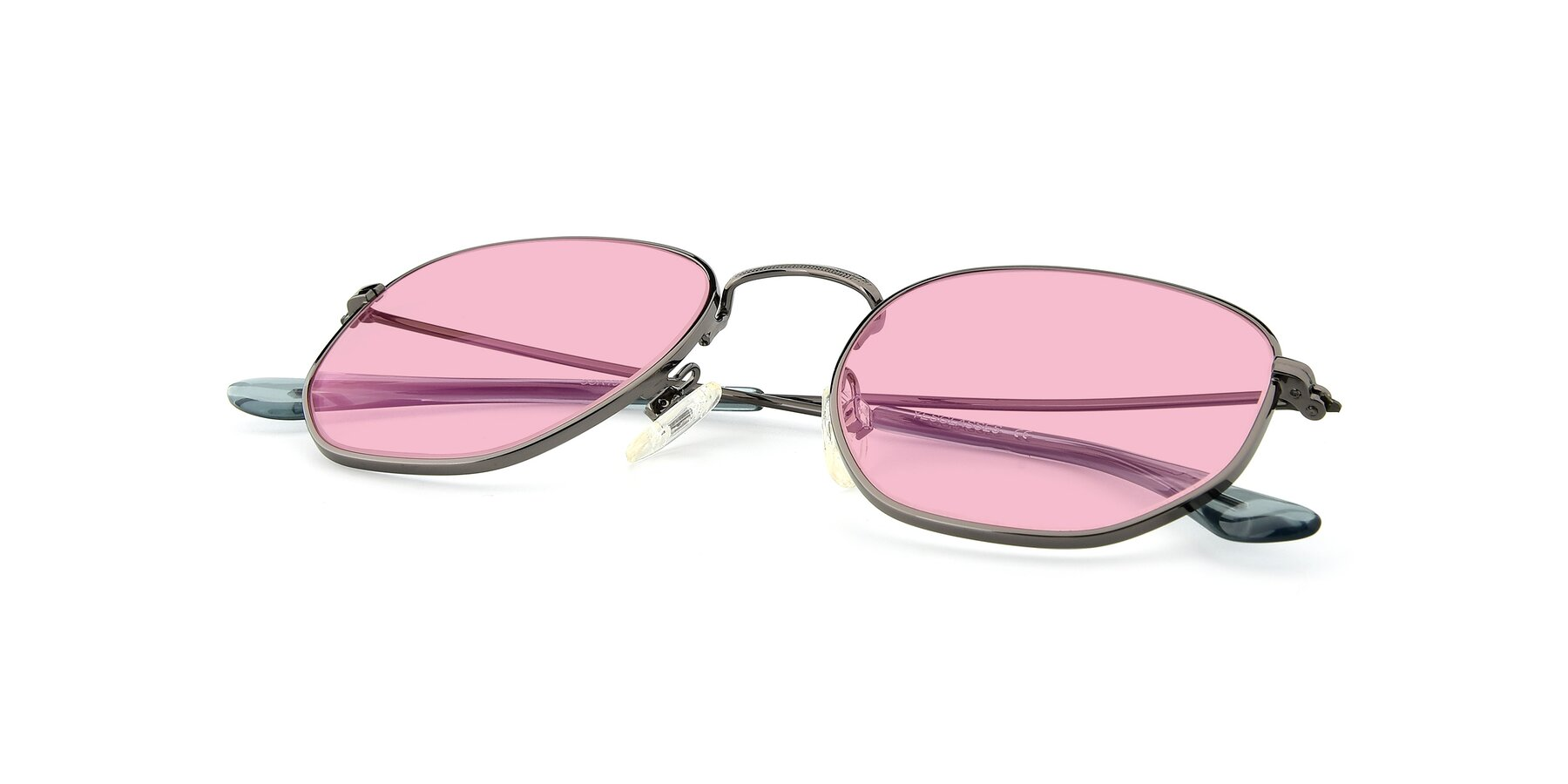 View of SSR1944 in Grey with Medium Pink Tinted Lenses