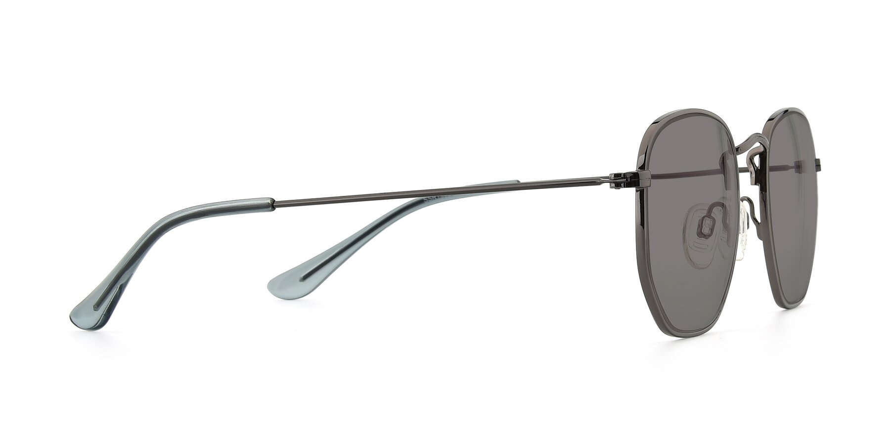 Side of SSR1944 in Grey with Medium Gray Tinted Lenses
