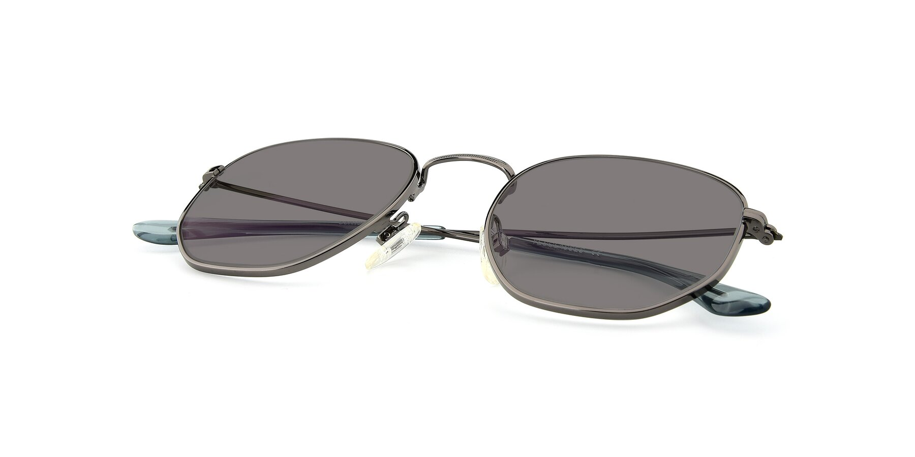 View of SSR1944 in Grey with Medium Gray Tinted Lenses