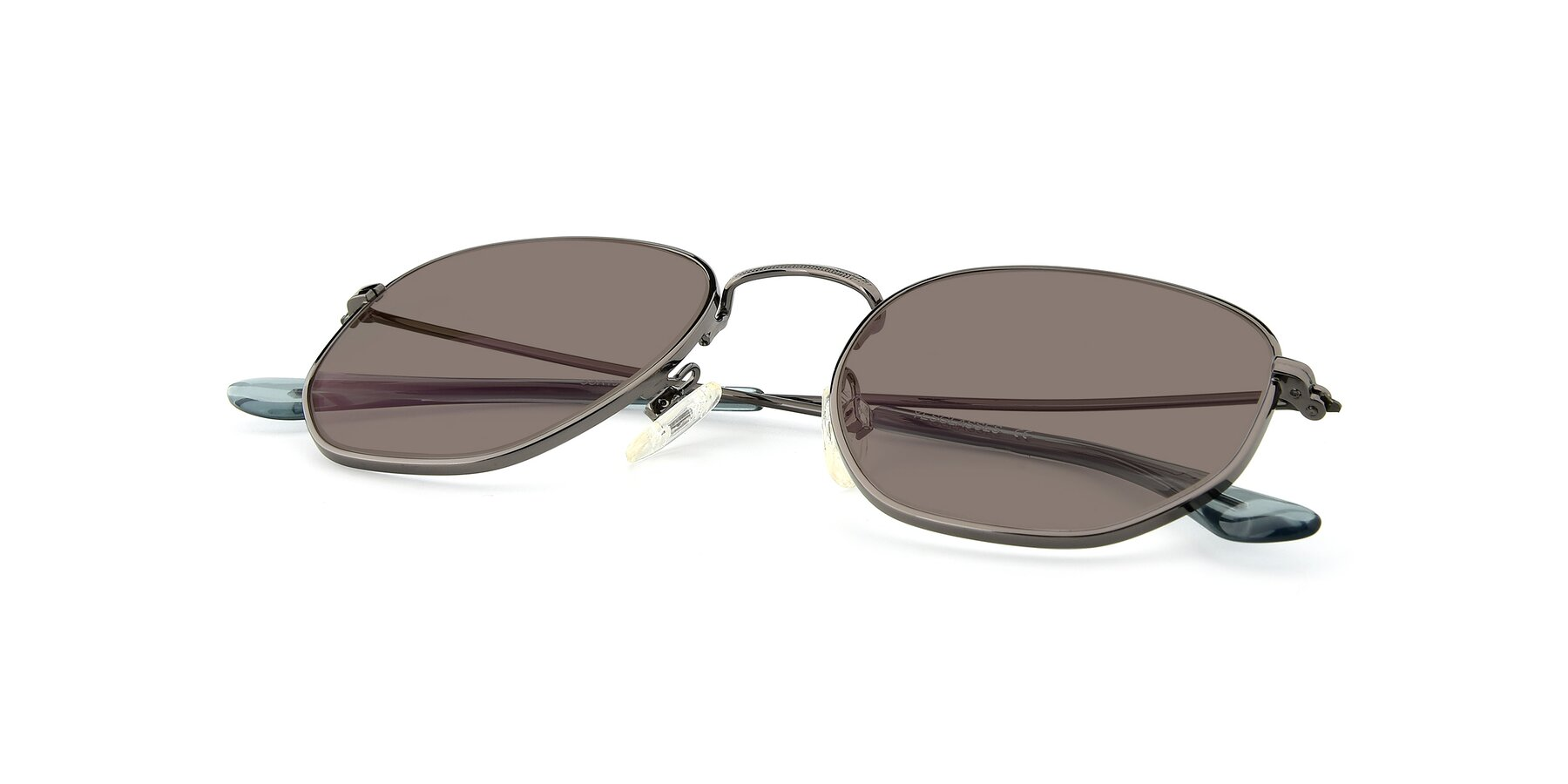 View of SSR1944 in Grey with Medium Brown Tinted Lenses