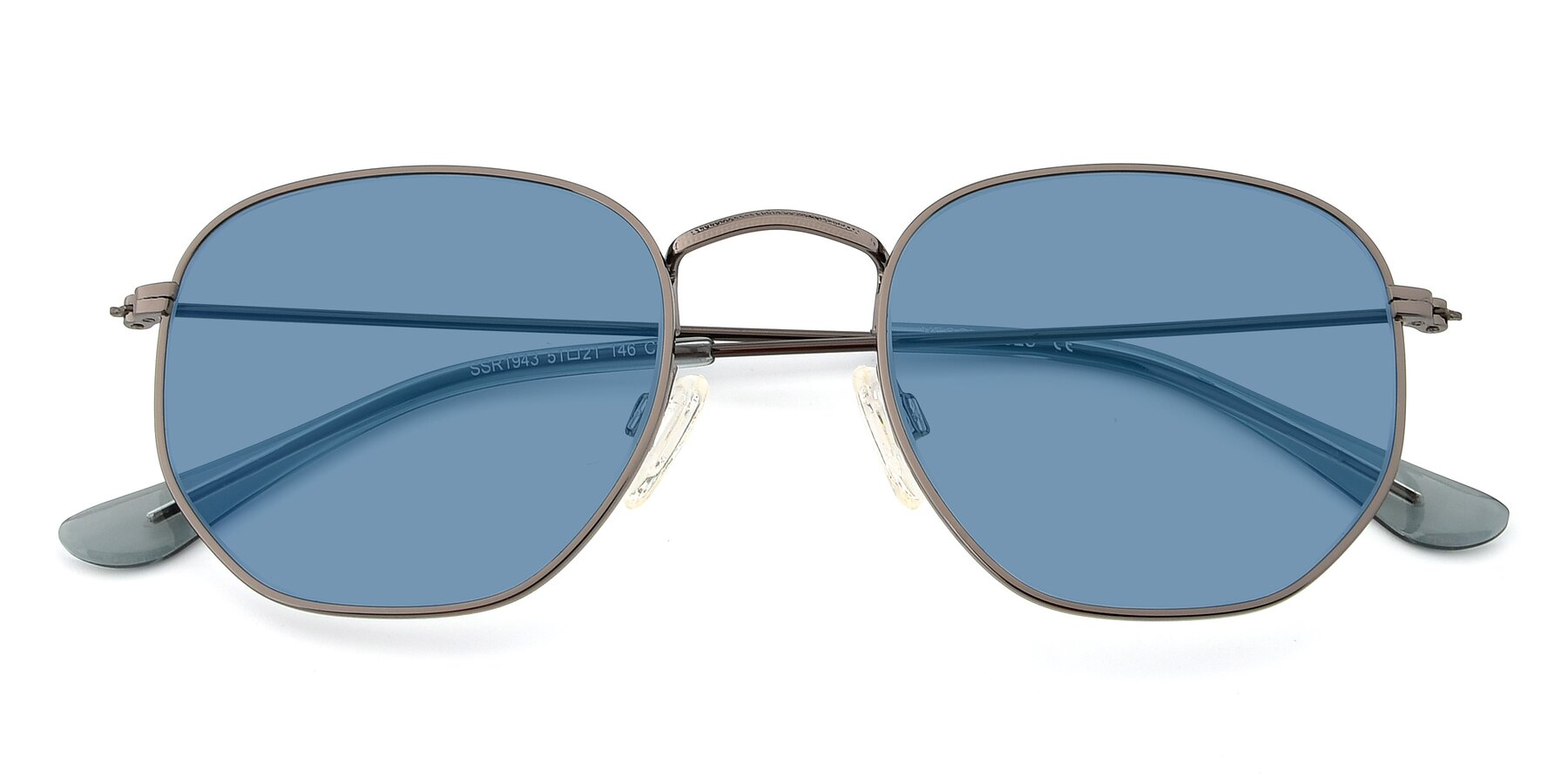 Folded Front of SSR1944 in Grey with Medium Blue Tinted Lenses