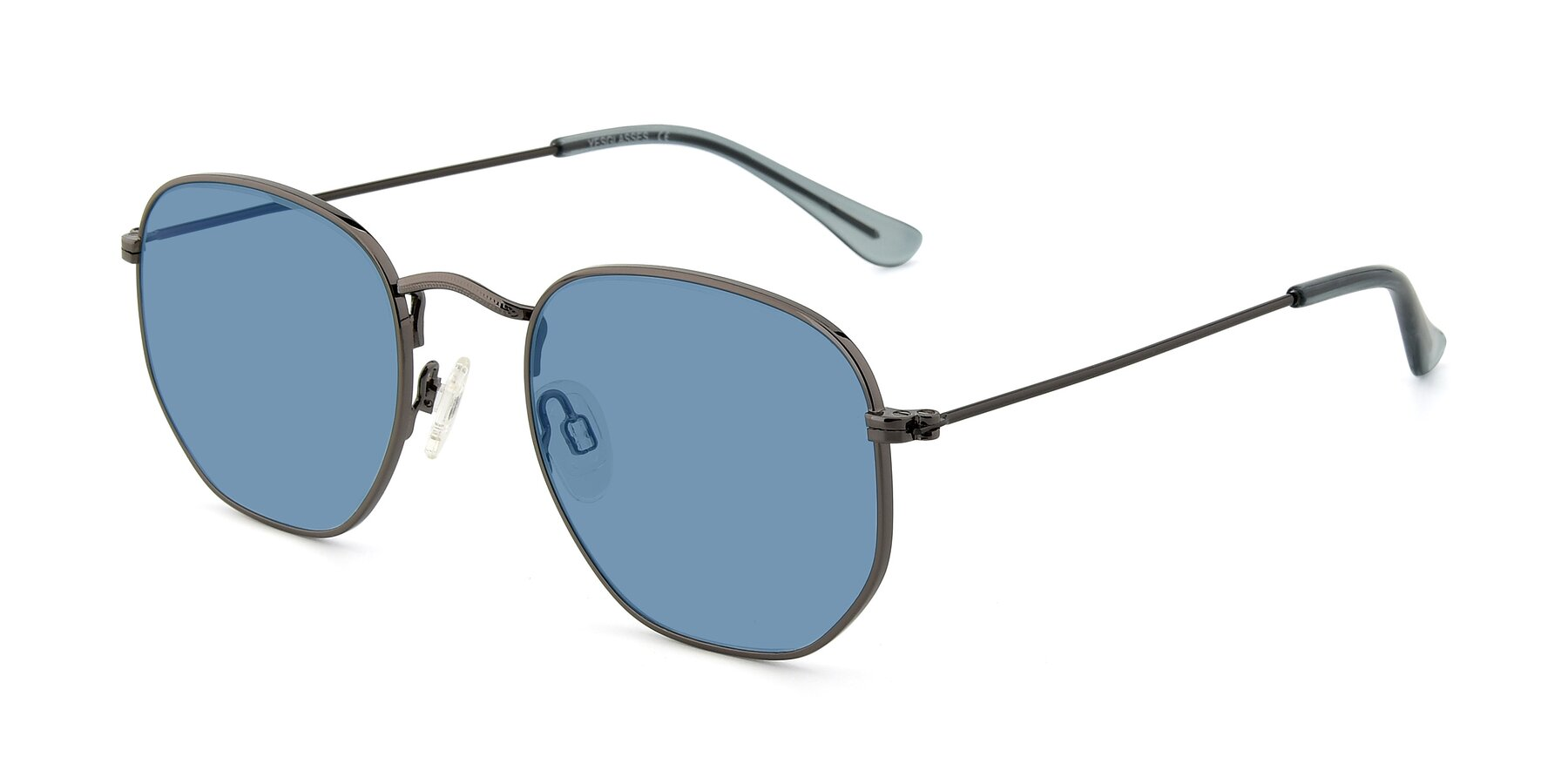Angle of SSR1944 in Grey with Medium Blue Tinted Lenses