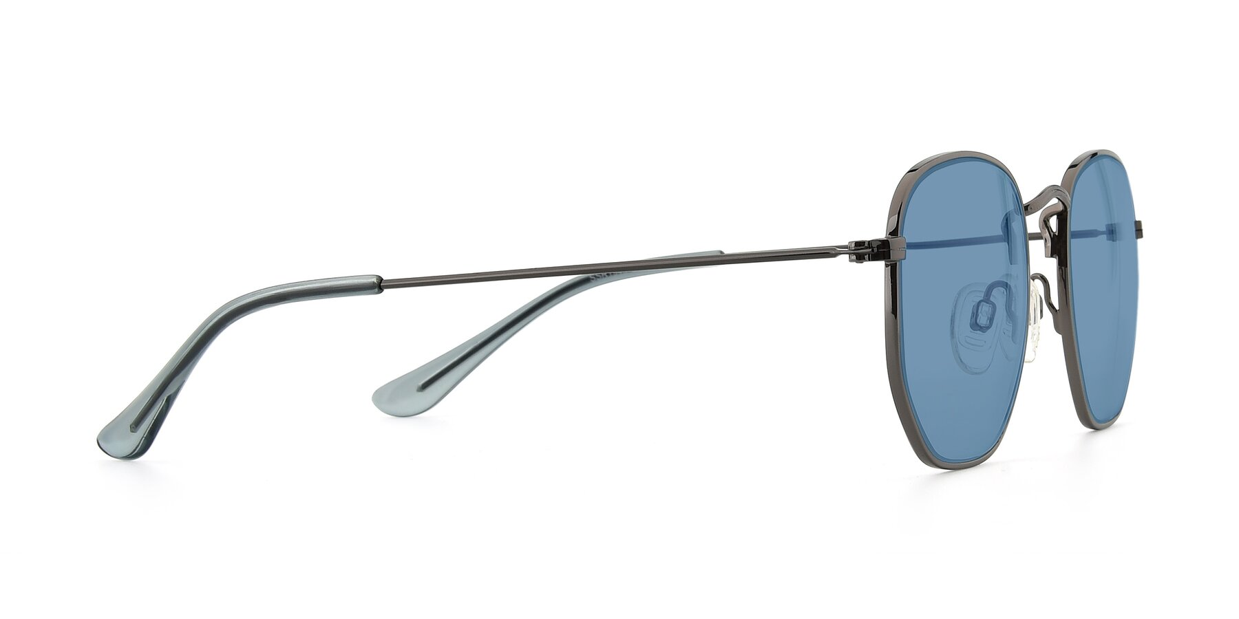 Side of SSR1944 in Grey with Medium Blue Tinted Lenses