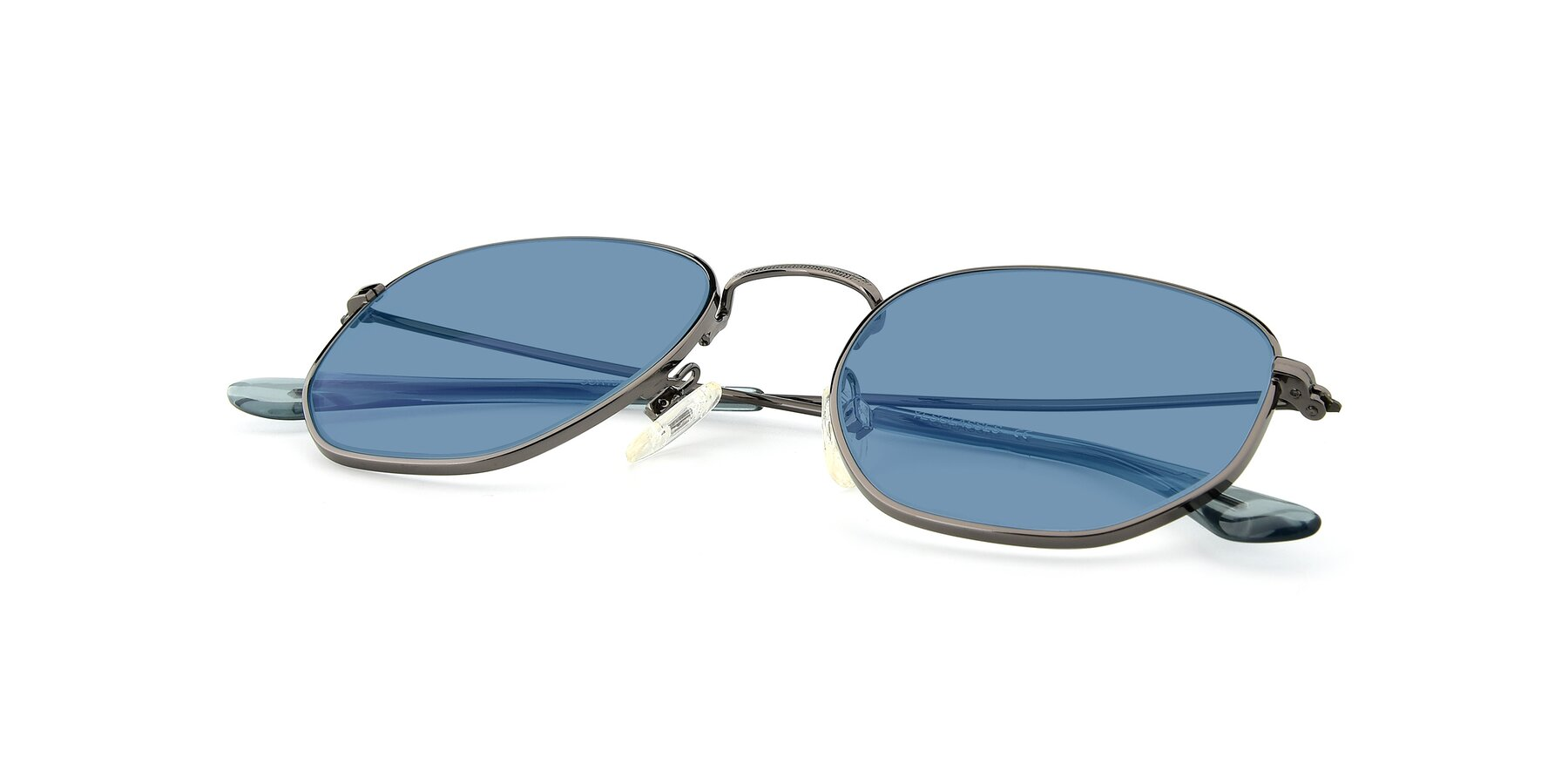 View of SSR1944 in Grey with Medium Blue Tinted Lenses