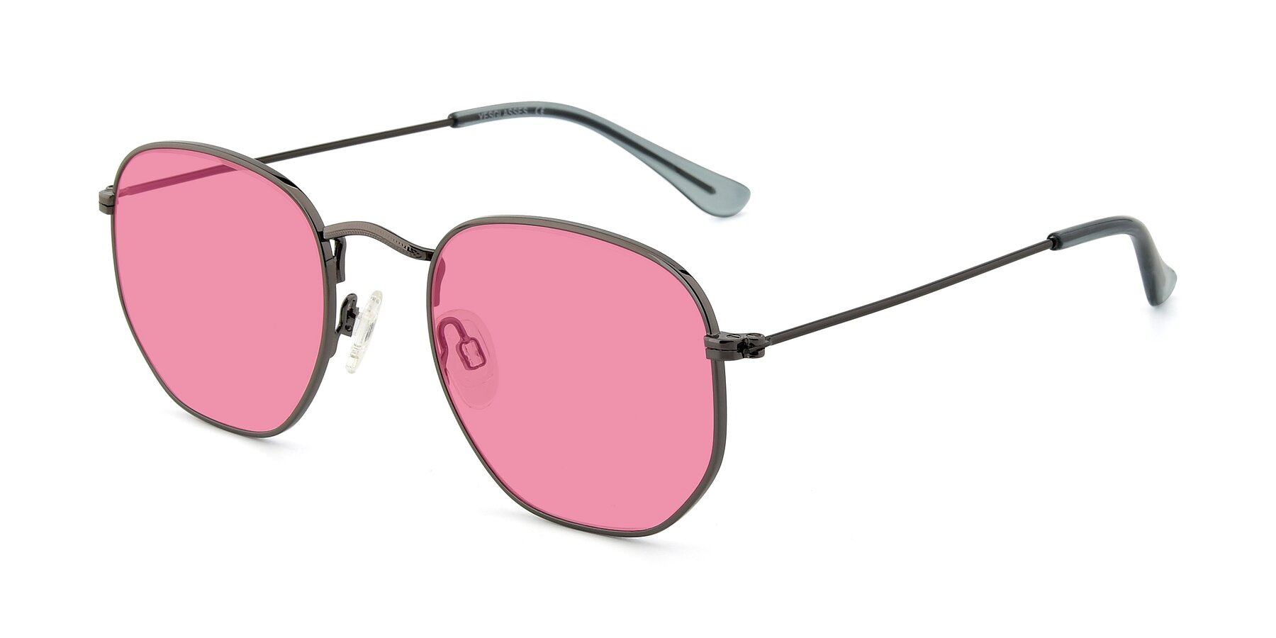 Angle of SSR1944 in Grey with Pink Tinted Lenses