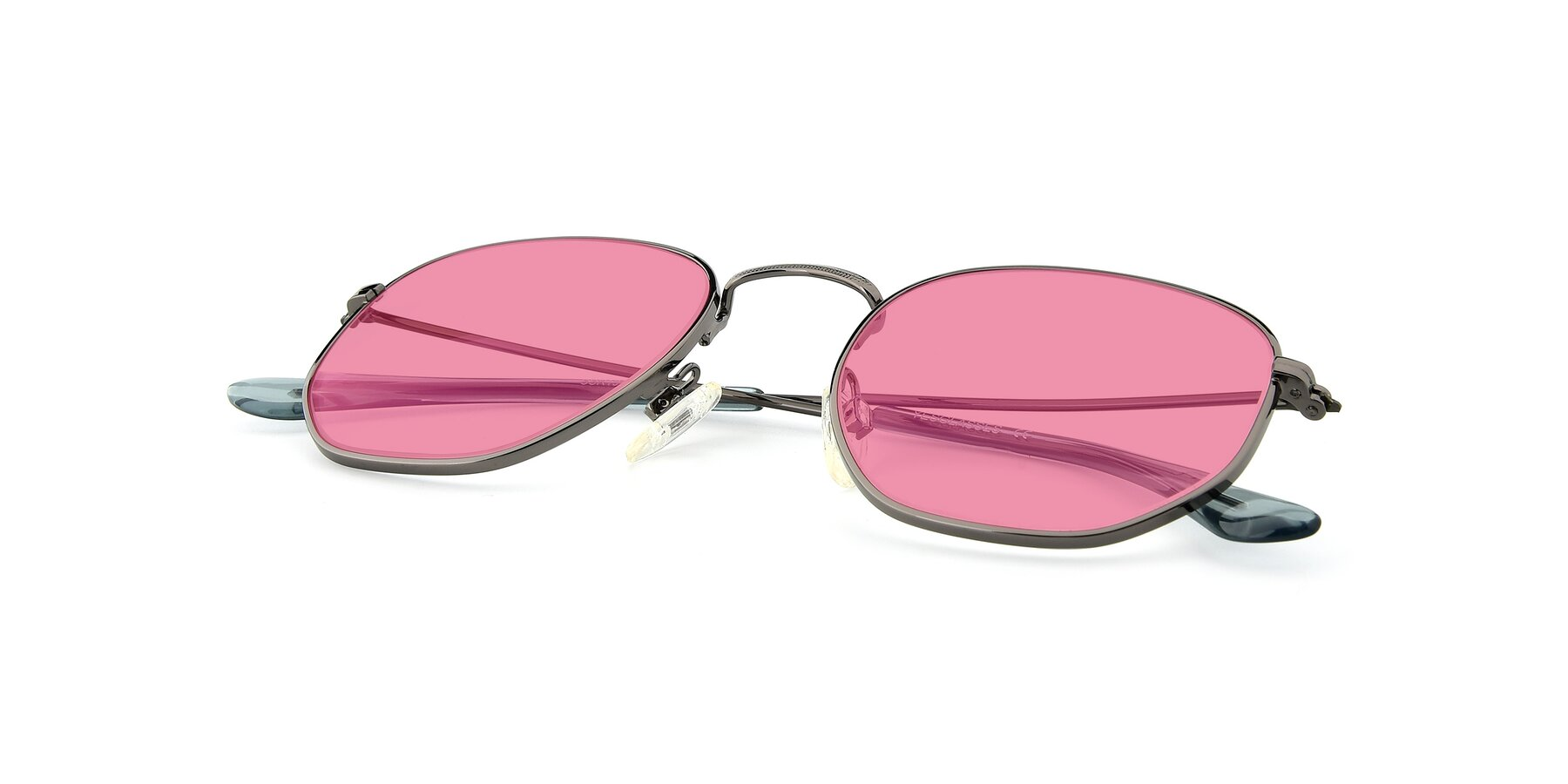 View of SSR1944 in Grey with Pink Tinted Lenses