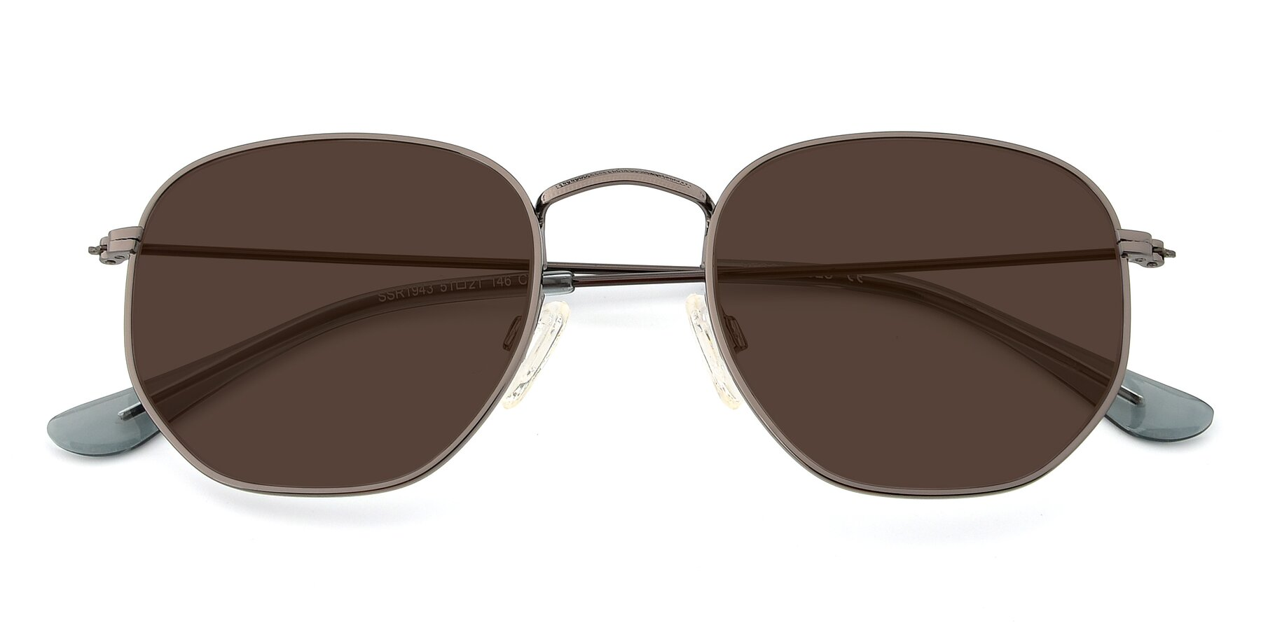Folded Front of SSR1944 in Grey with Brown Tinted Lenses