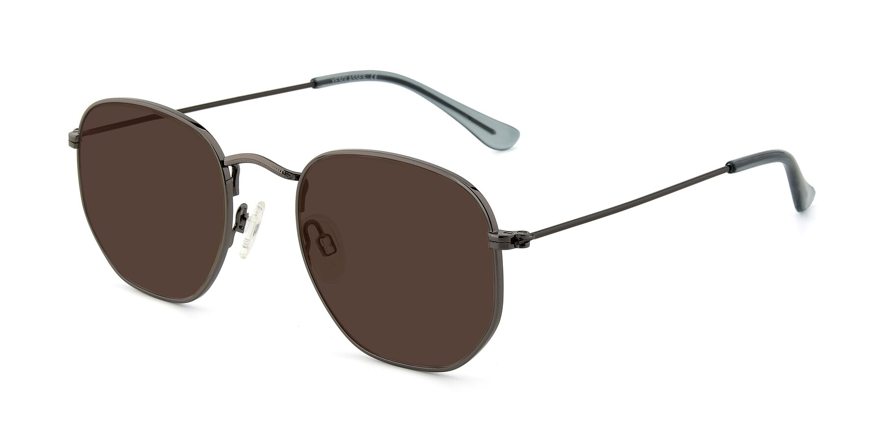 Angle of SSR1944 in Grey with Brown Tinted Lenses