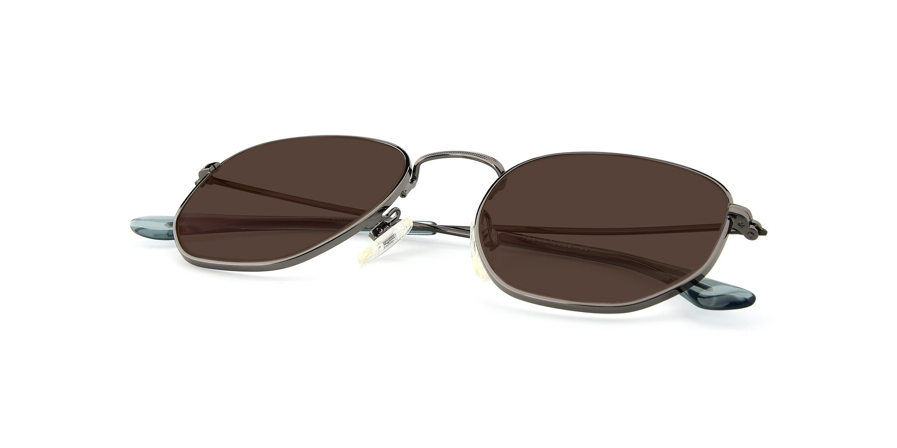 View of SSR1944 in Grey with Brown Tinted Lenses