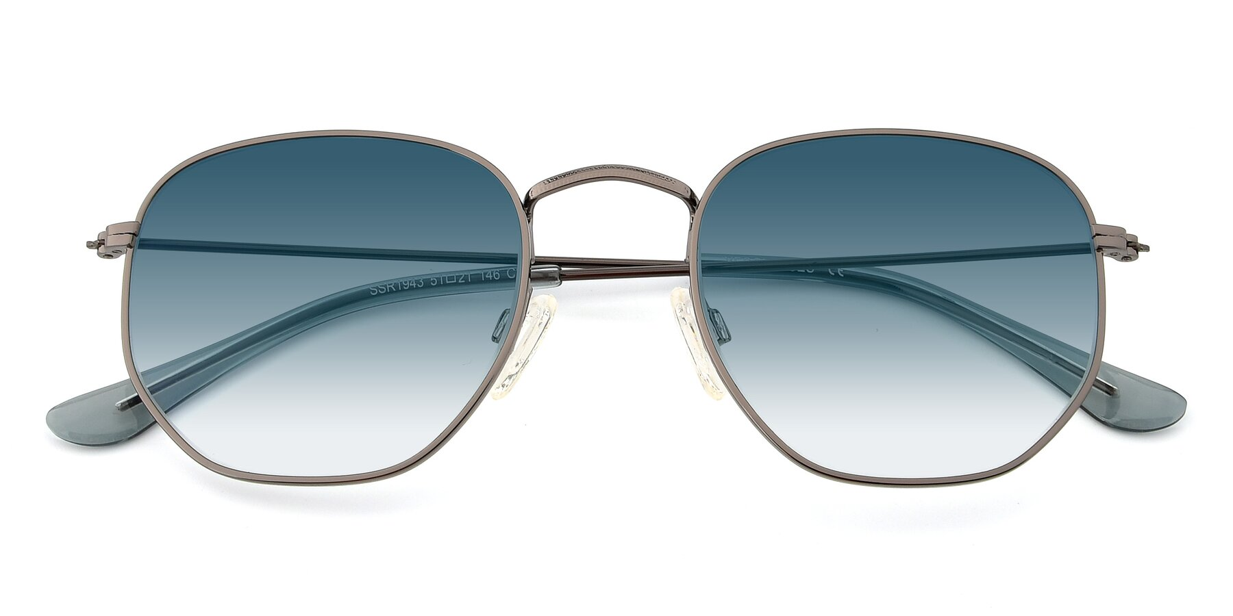 Folded Front of SSR1944 in Grey with Blue Gradient Lenses