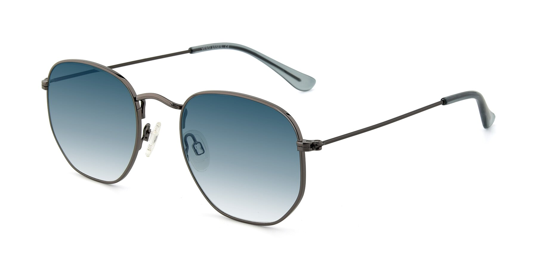 Angle of SSR1944 in Grey with Blue Gradient Lenses