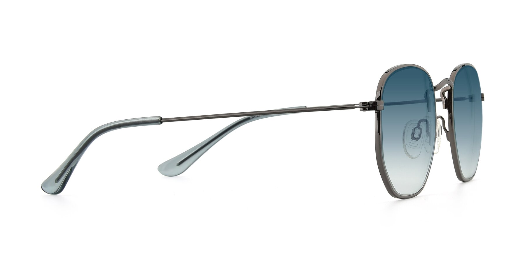 Side of SSR1944 in Grey with Blue Gradient Lenses