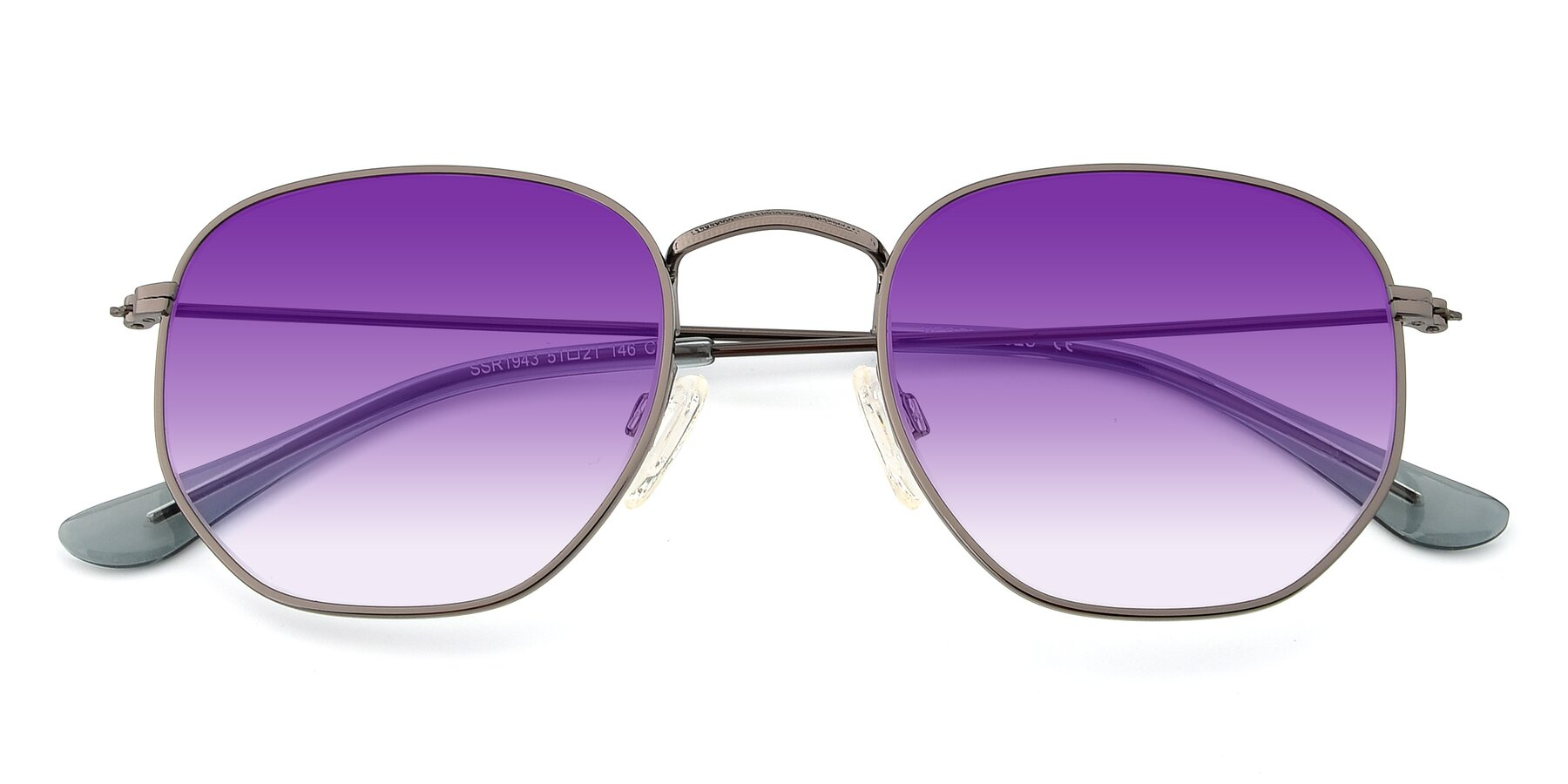 Folded Front of SSR1944 in Grey with Purple Gradient Lenses