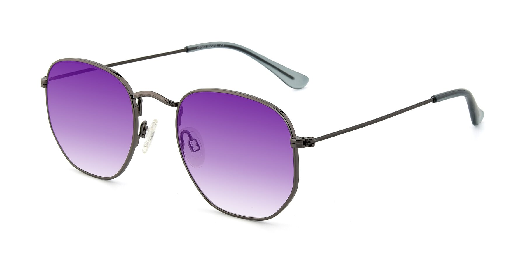 Angle of SSR1944 in Grey with Purple Gradient Lenses