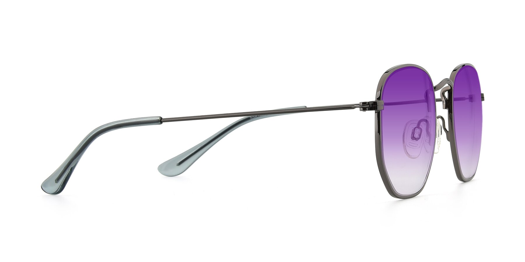 Side of SSR1944 in Grey with Purple Gradient Lenses