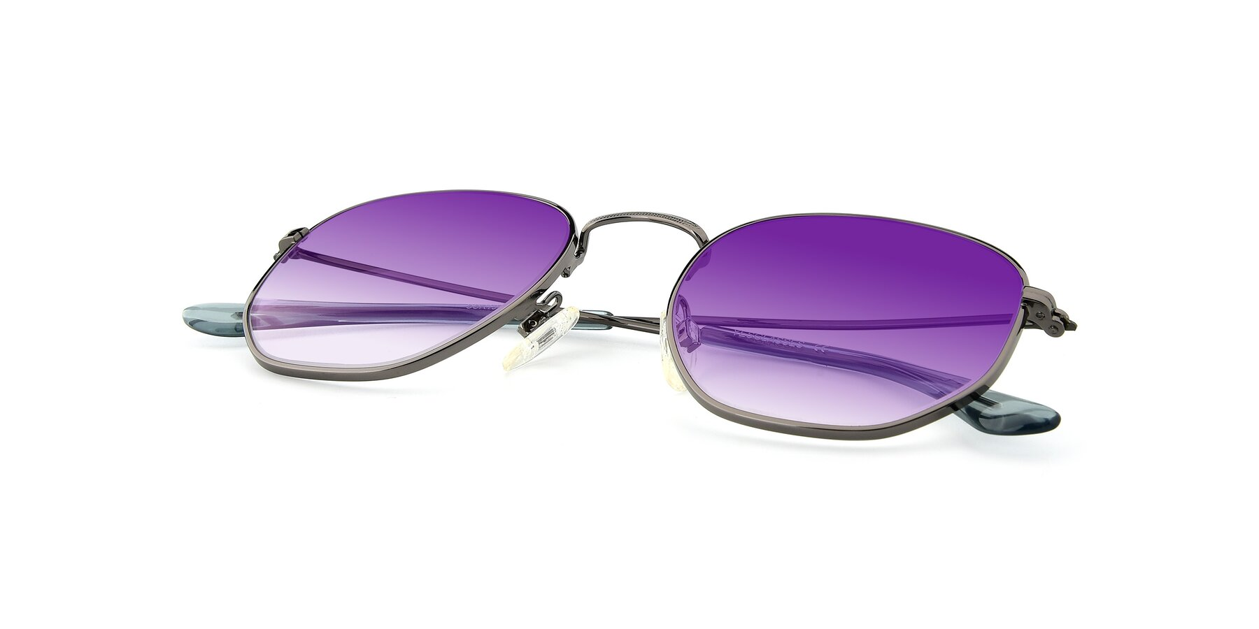 View of SSR1944 in Grey with Purple Gradient Lenses