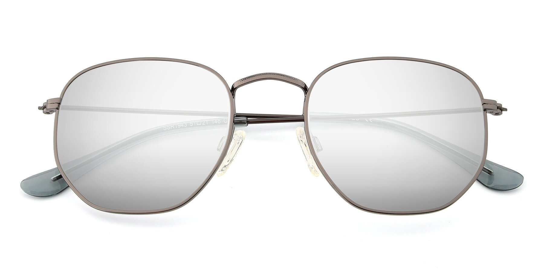 Folded Front of SSR1944 in Grey with Silver Mirrored Lenses