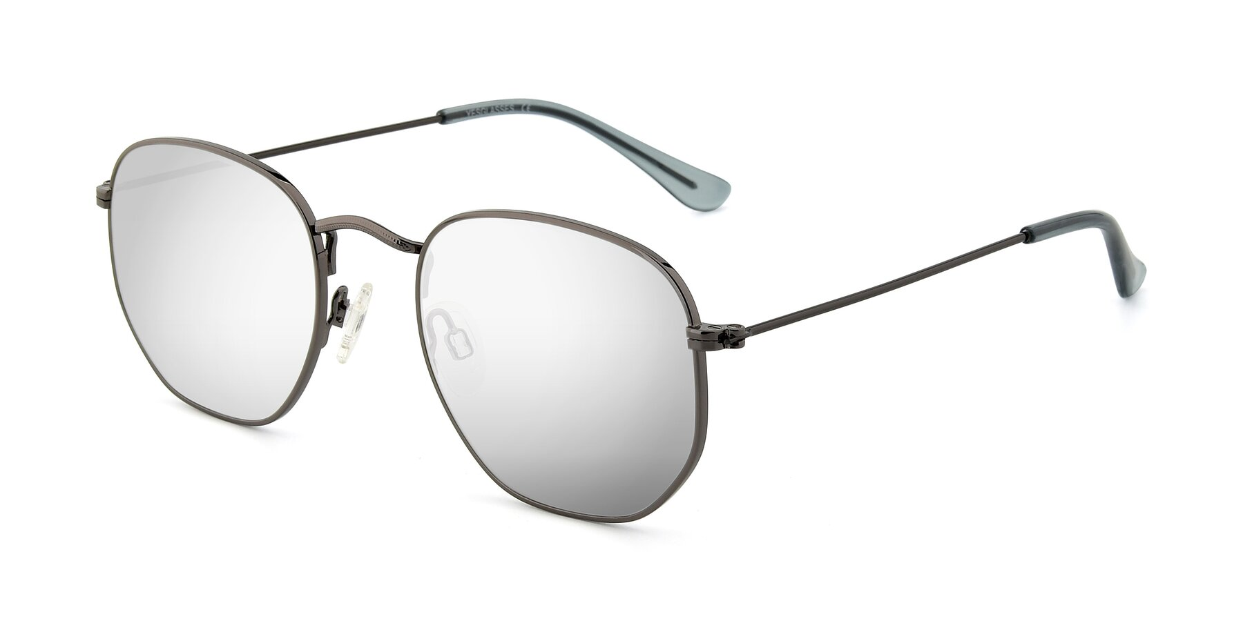 Angle of SSR1944 in Grey with Silver Mirrored Lenses