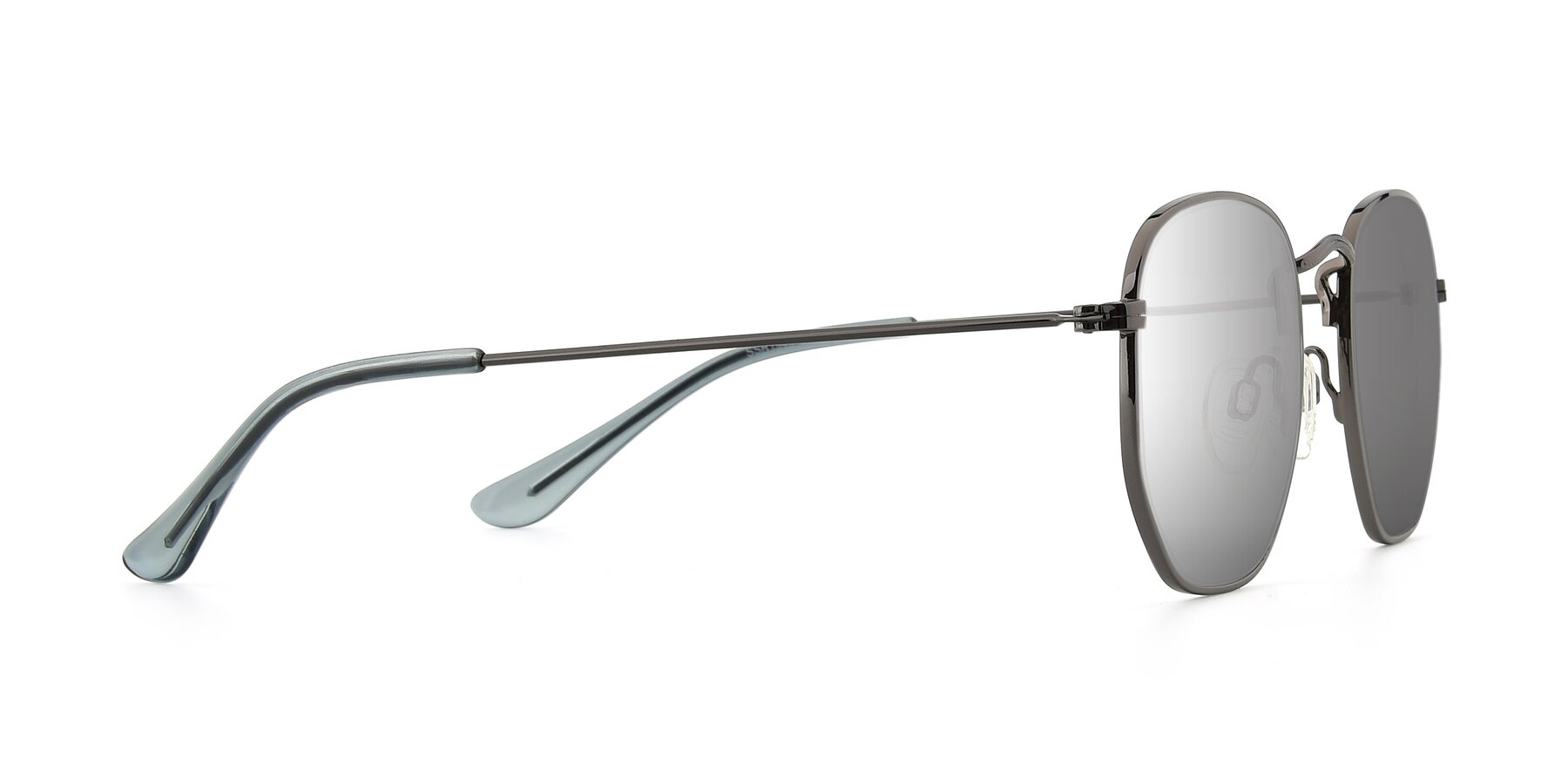 Side of SSR1944 in Grey with Silver Mirrored Lenses