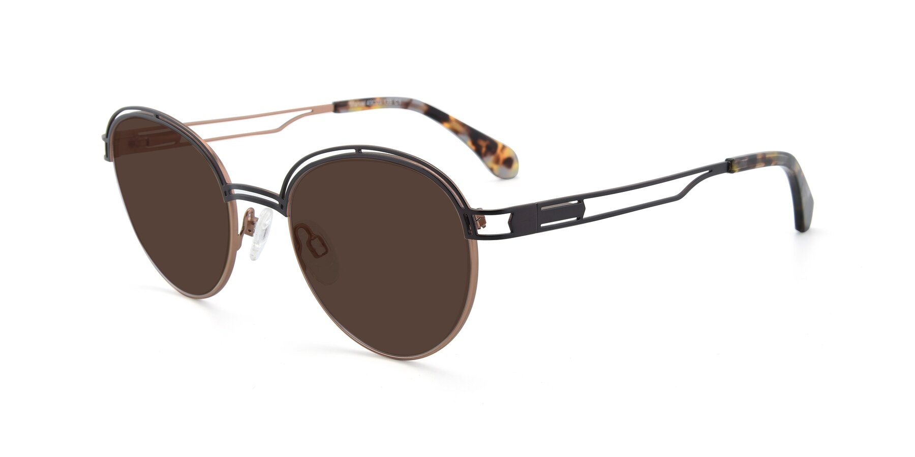Angle of Marvel in Coffee-Gold with Brown Tinted Lenses